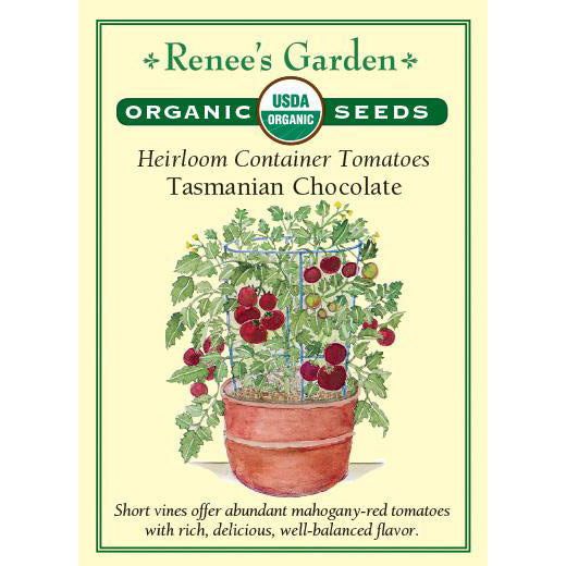Tomatoes - Organic Heirloom Container Tasmanian Chocolate