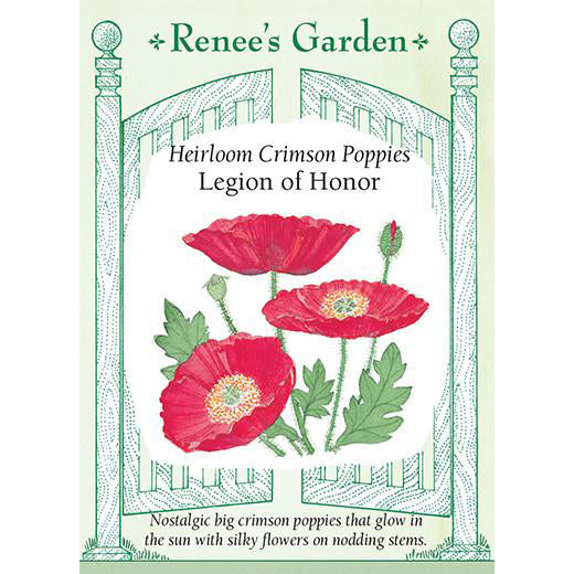 Poppies - Heirloom Crimson Legion of Honor