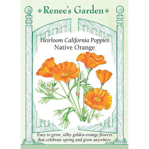 Poppies - Heirloom California Native Orange