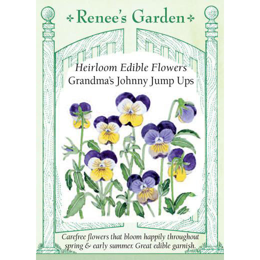 Johnny Jump Ups - Grandma's Heirloom Edible Flowers