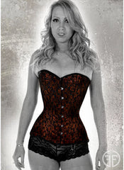 Bronze Liberty Lace overbust corset
