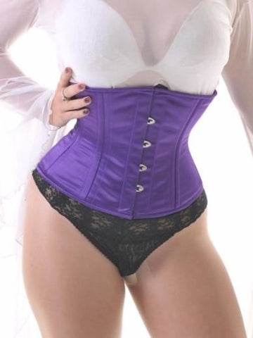 Purple waist-cincher training corset