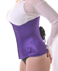 Purple underbust training corset