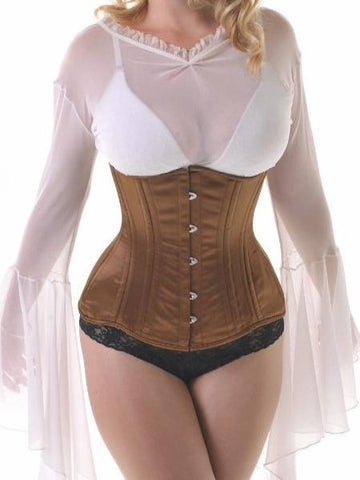 Bronze underbust training corset