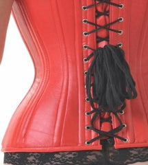 Leather Vixen red overbust corset