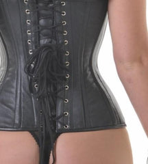 Lottie leather overbust corset