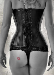 Leather Vixen black overbust corset