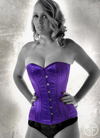 Purple overbust training corset
