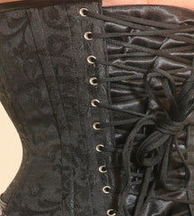 Copy of Black  brocade steampunk overbust corset