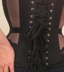 Mesh with Rings overbust steel boned corset