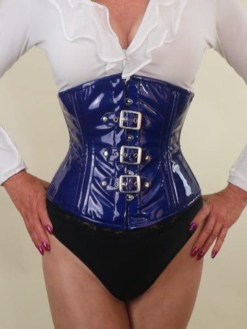 PVC blue with buckles waist cincher