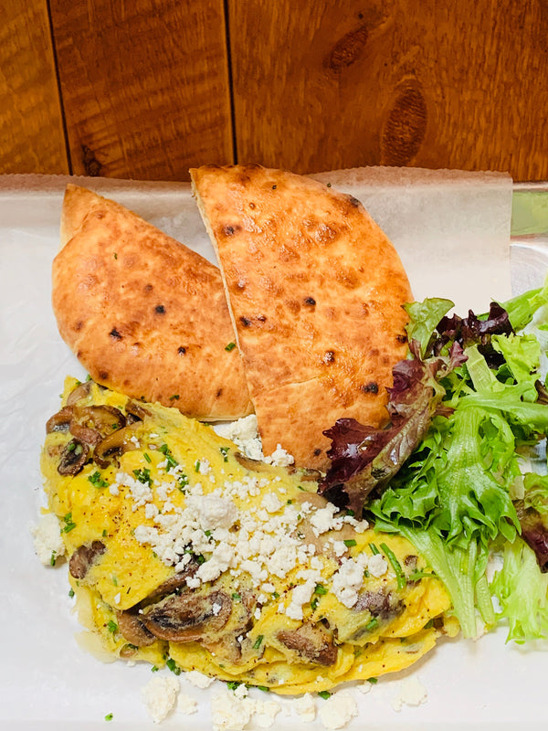 Mushroom and Feta Cheese Omelet