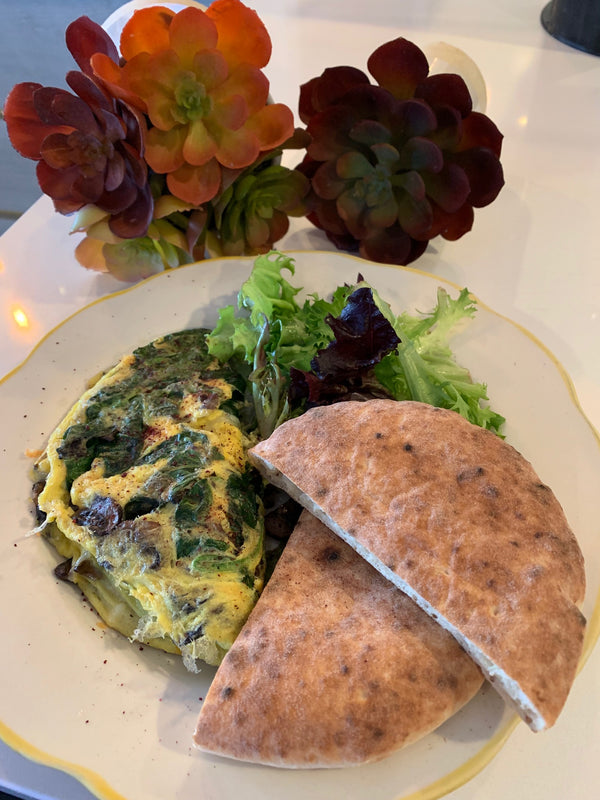Spinach and Mushroom Omelet