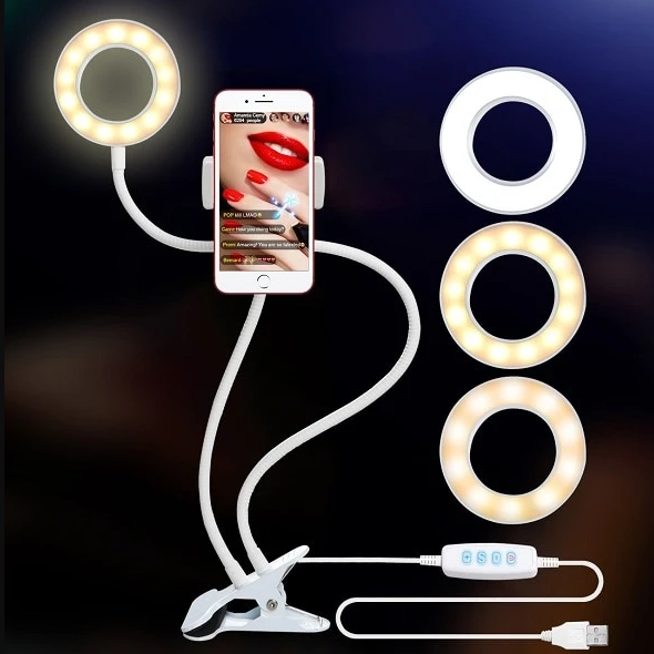 Led Light With Cell Phone Holder™