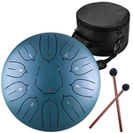 6 Inch 8 Notes Steel Tongue Drum  | Black Golden Red Blue