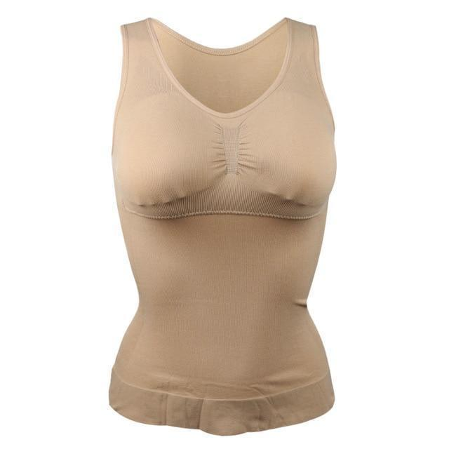 Slimming Up Contouring Compression Tank Top Shaper ( Buy 2 Get Extra 10% Off ) TopViralPick Khaki L
