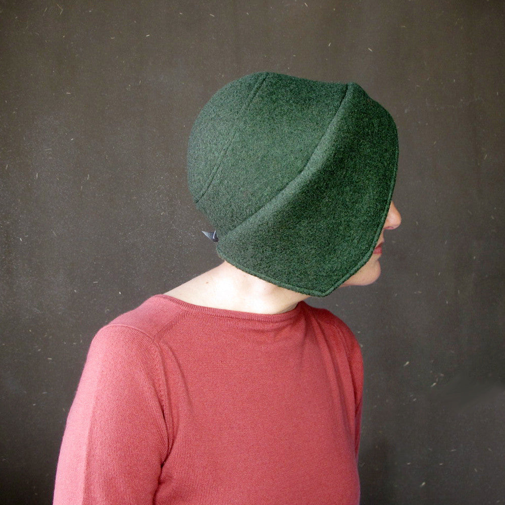 Green brimmed cloche - terry graziano