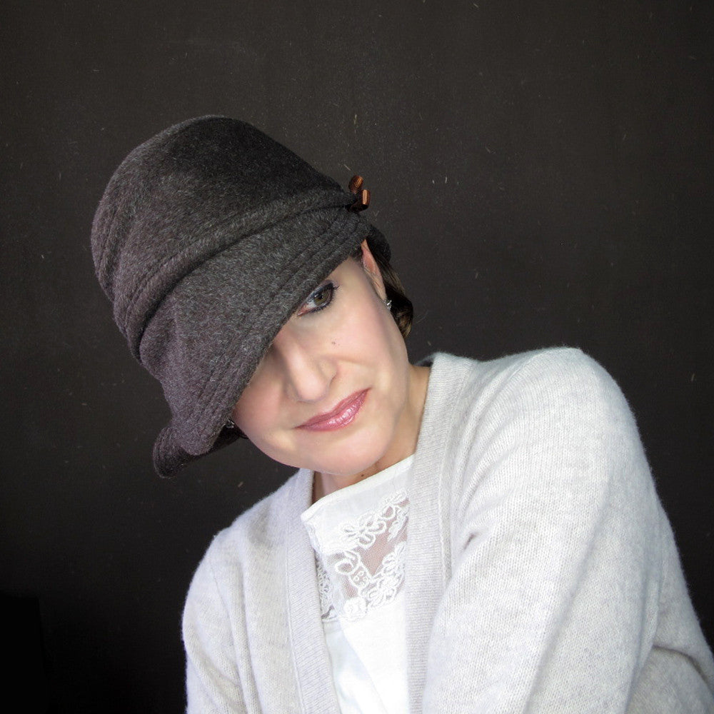 Accomplice cloche hat in chocolate wool & mohair - terry graziano