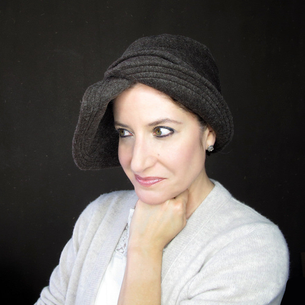 Modern millinery cloche hat - terry graziano
