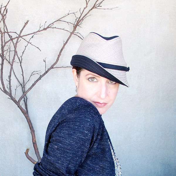 Fedora Courant in navy & griege - terry graziano