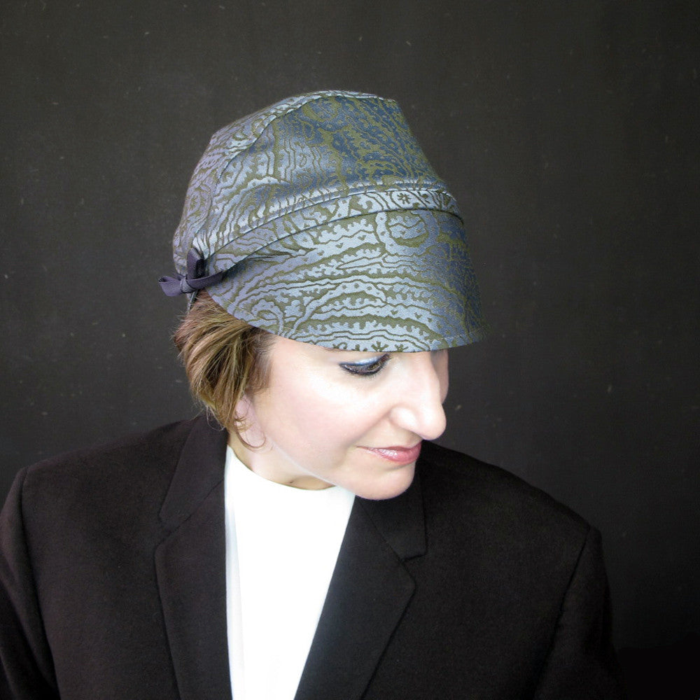Heady Concoction in paisley : women's autumn turban, cloche, toque - terry graziano  - 9