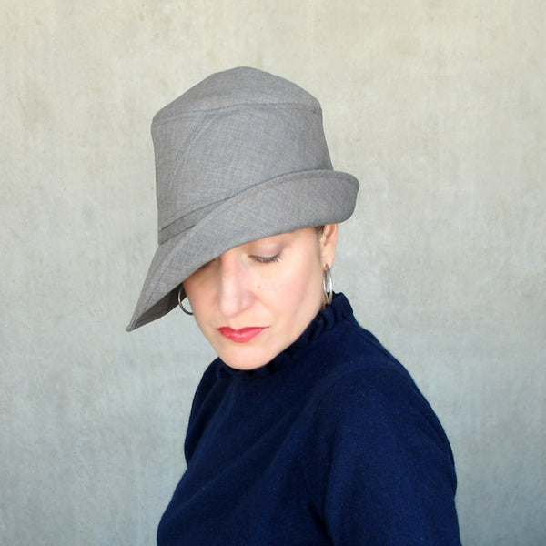 Womens grey rain hat - terry graziano