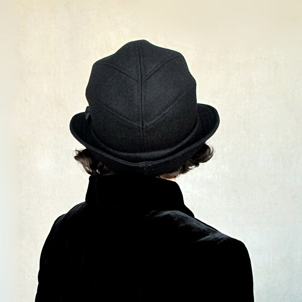 Salmagundi : women's black wool bowler hat - rear view - terry graziano - 1