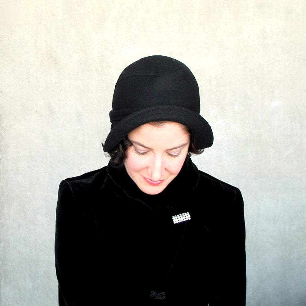 Salmagundi : women's black wool bowler hat - terry graziano  - 8