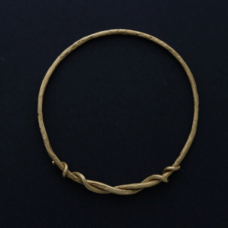 Brass forged bangle