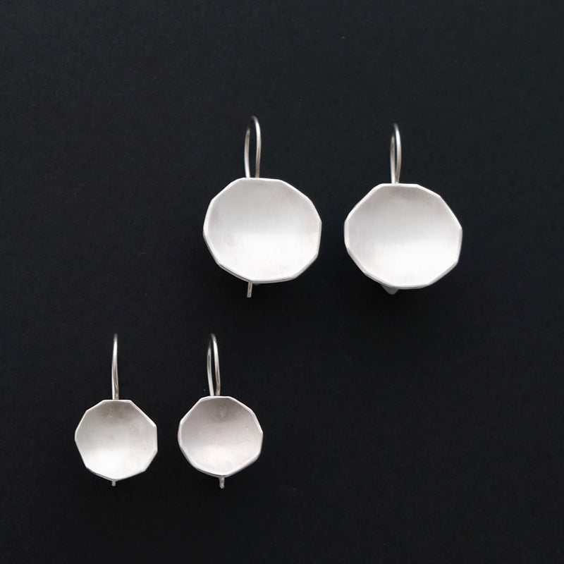 Sterling silver hex earrings