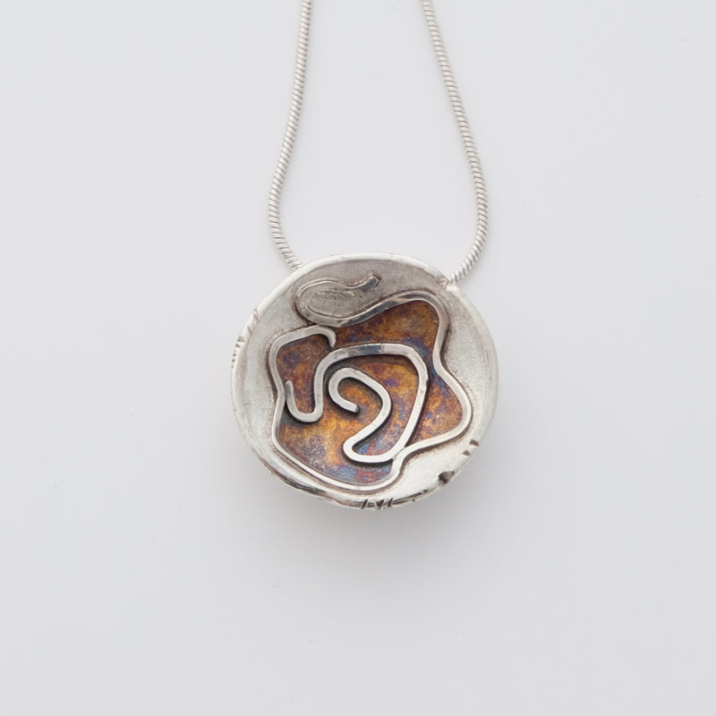 Sterling silver oyster pendant