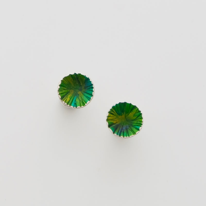 Sterling silver and enamel studs