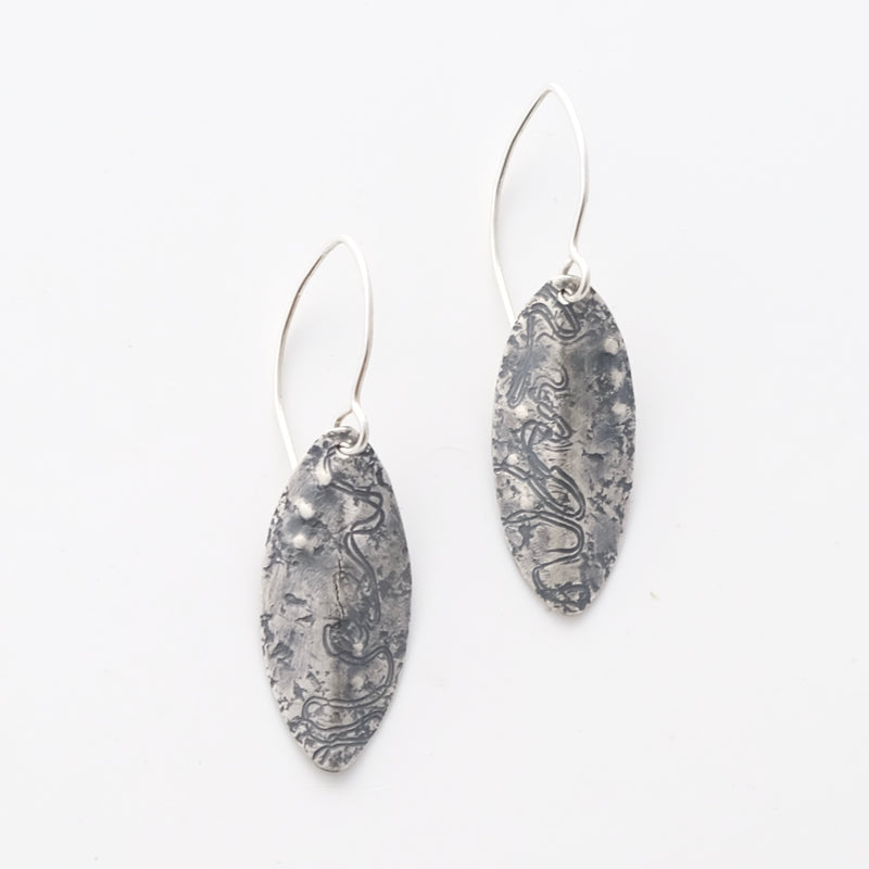Sterling silver scribbly gum earrings