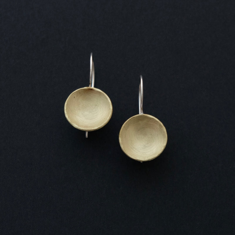Brass and sterling silver earrings