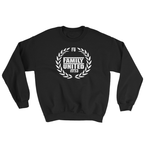 Family United Crewneck Sweatshirt Black