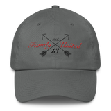 Family Script Polo Hat Charcoal