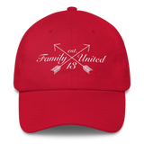 Family Script Polo Hat Red