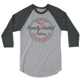 Join The Family Baseball Raglan Heather Grey/Heather Charcoal