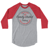 Join The Family Baseball Raglan Heather Grey/Red