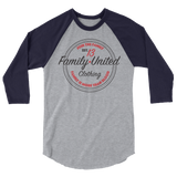 Join The Family Baseball Raglan Heather Grey/Navy