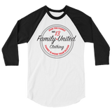 Join The Family Baseball Raglan White/Black