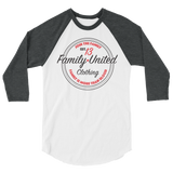 Join The Family Baseball Raglan White/Charcoal