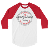 Join The Family Baseball Raglan White/Red