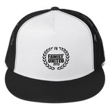 Family United Logo Trucker Hat White/Black