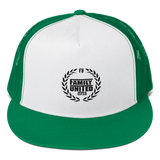 Family United Logo Trucker Hat White/Green