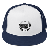 Family United Logo Trucker Hat White/Navy