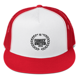 Family United Logo Trucker Hat White/Red
