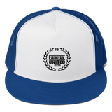 Family United Logo Trucker Hat White/Royal
