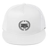 Family United Logo Trucker Hat White