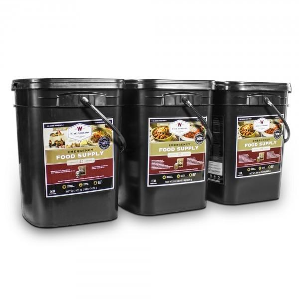 Long term emergency food 360 servings meal package with 25 year shelf life.